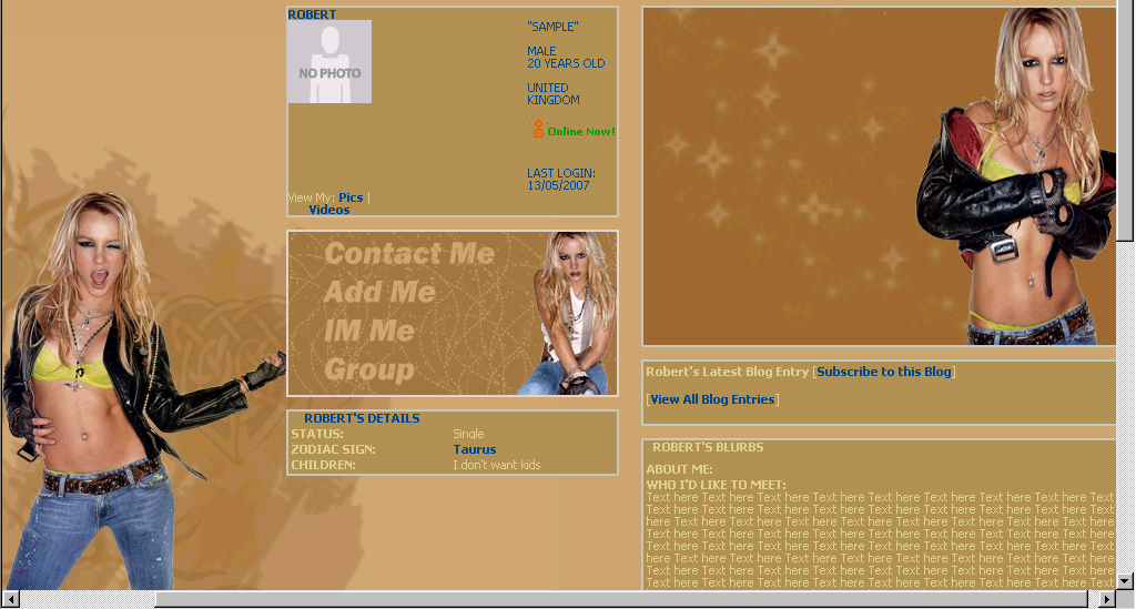 Myspace bisexual pride layout